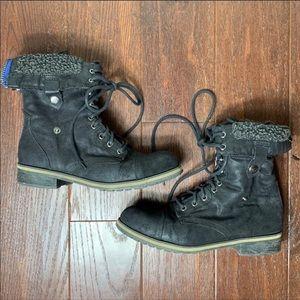 Madden Girl Motor Combat Boots